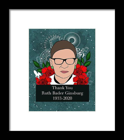 Thank You RBG - Framed Print