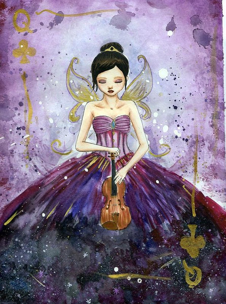 Violin Fairy Queen - Art Print