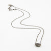 Rectangle Bead with Pave Diamonds on Oxidized Sterling Silver Chain - Zoe Chicco