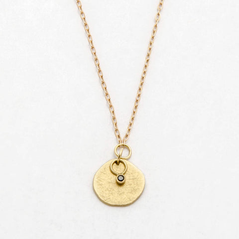 Astrid 18k Gold Necklace with Black Diamond- Sarah Mcguire