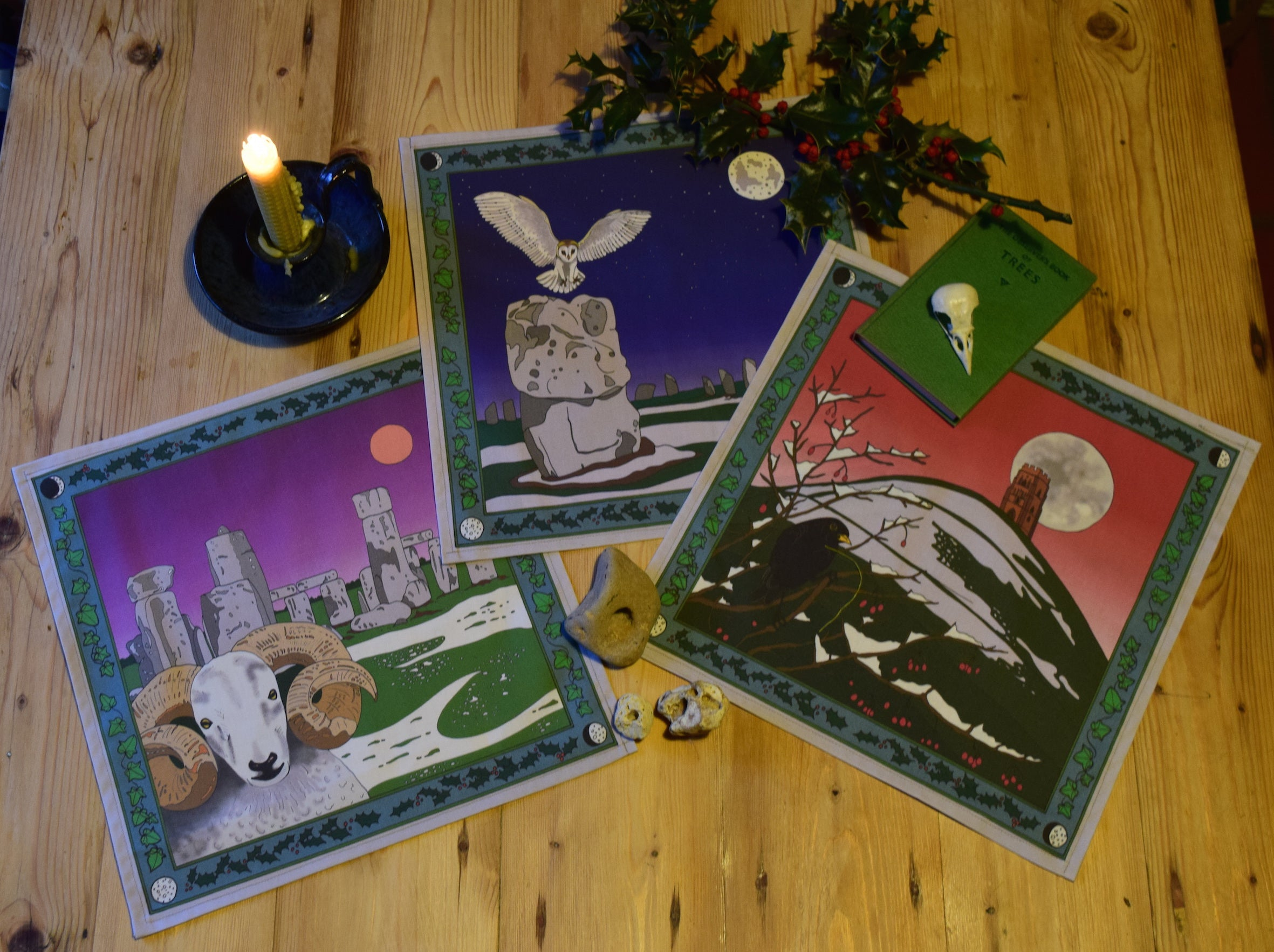 Winter Solstice Handkerchiefs