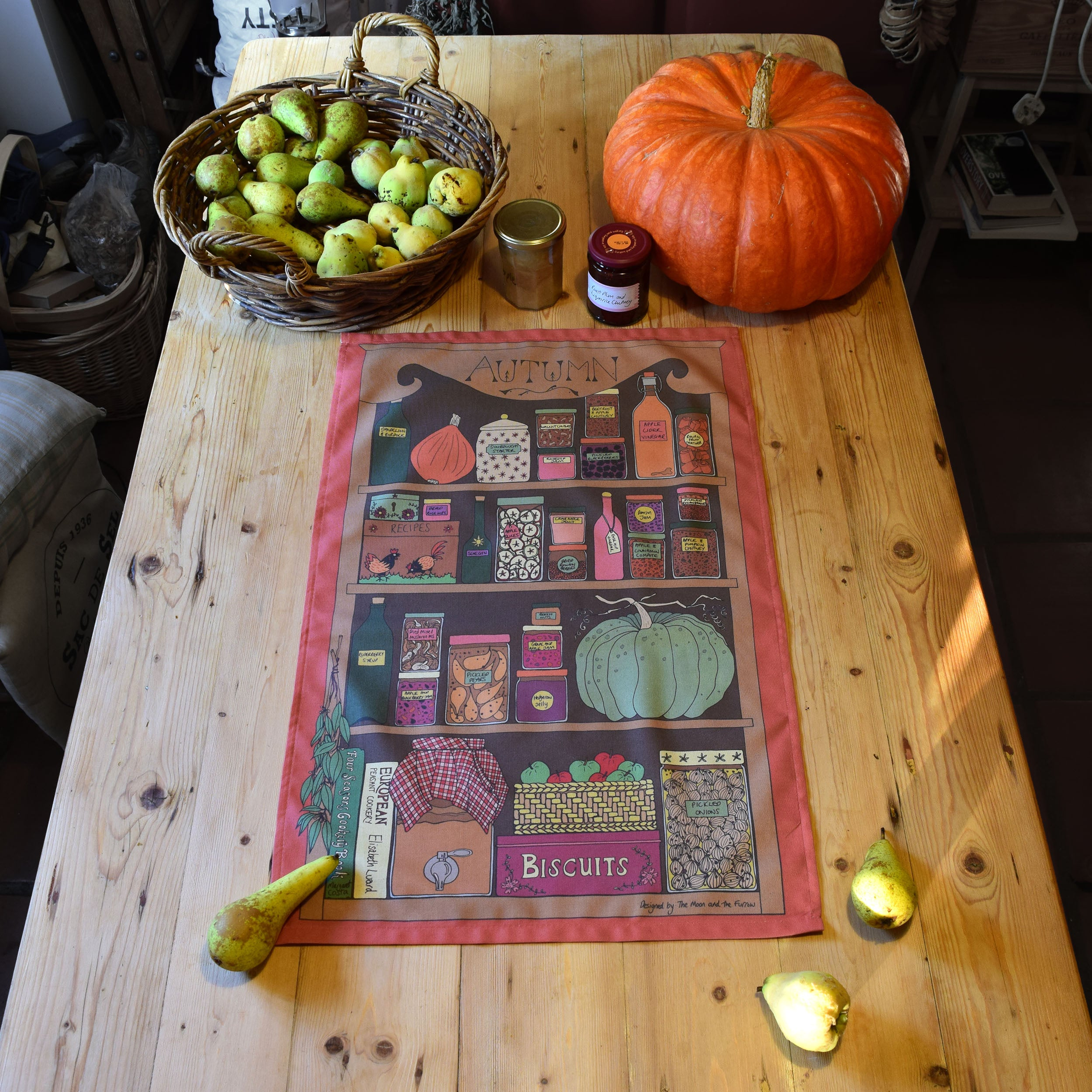 Autumn Kitchen Organic tea towel