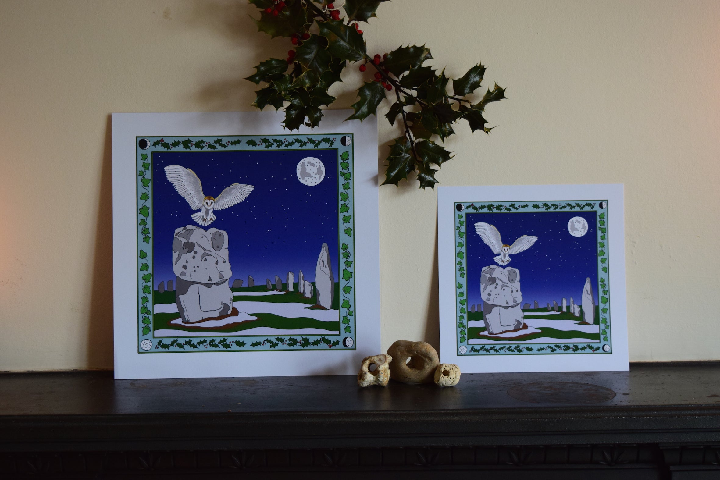 Avebury and the Barn Owl Art Print