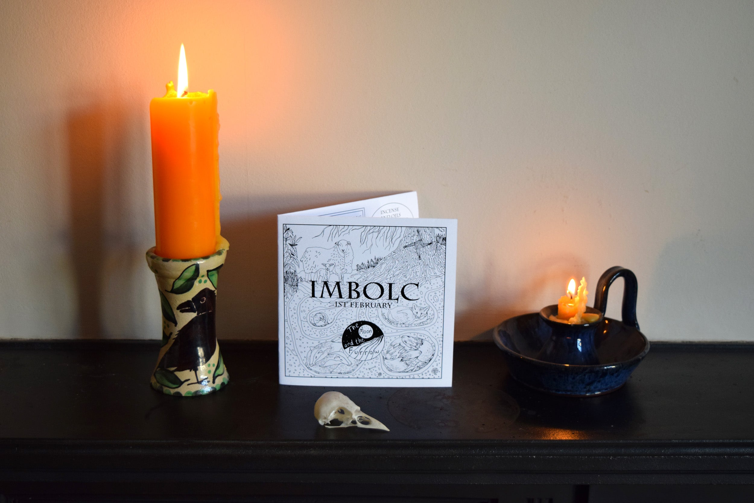 Imbolc Organic Cotton Handkerchief and booklet