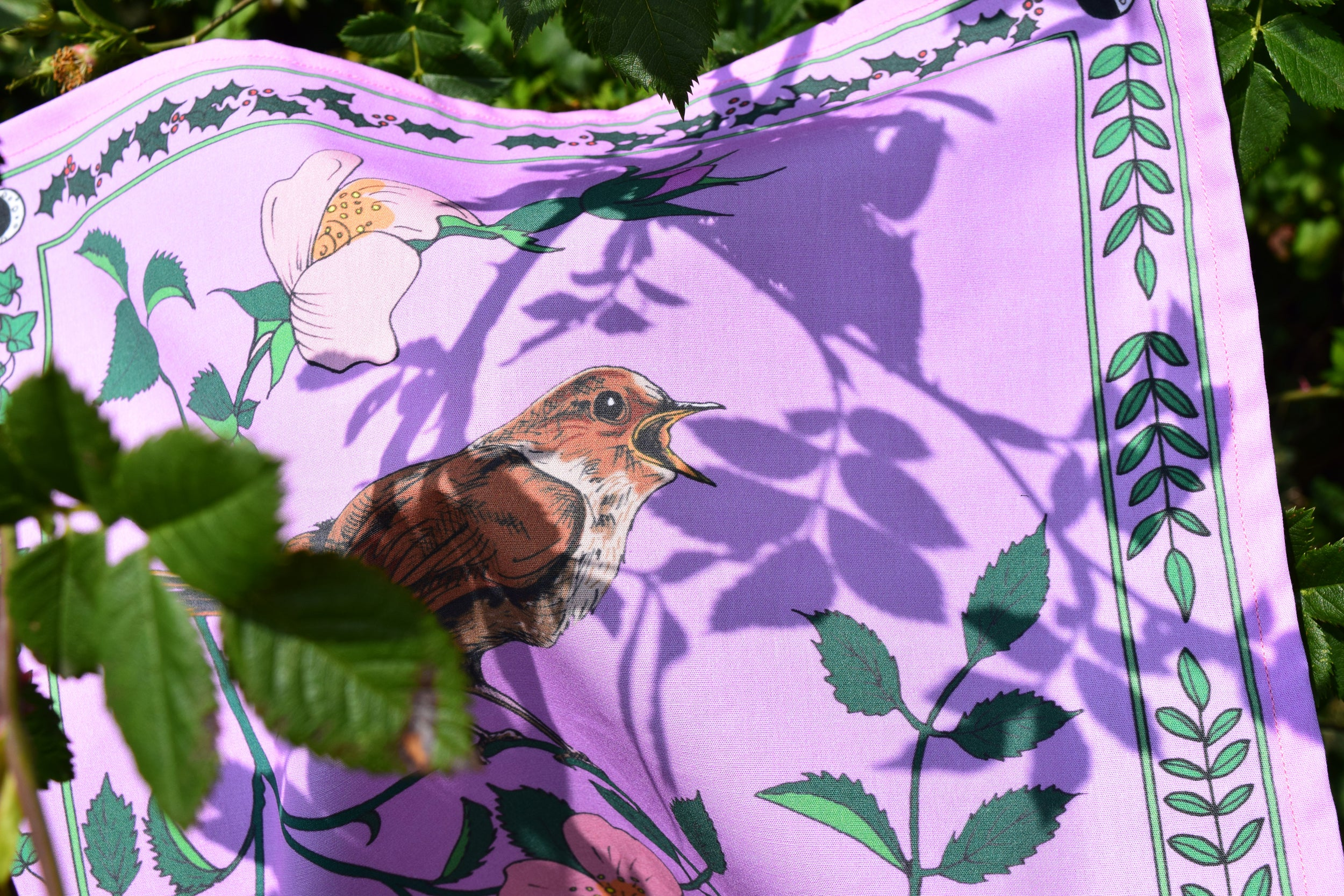 Organic cotton handkerchief Nightingale