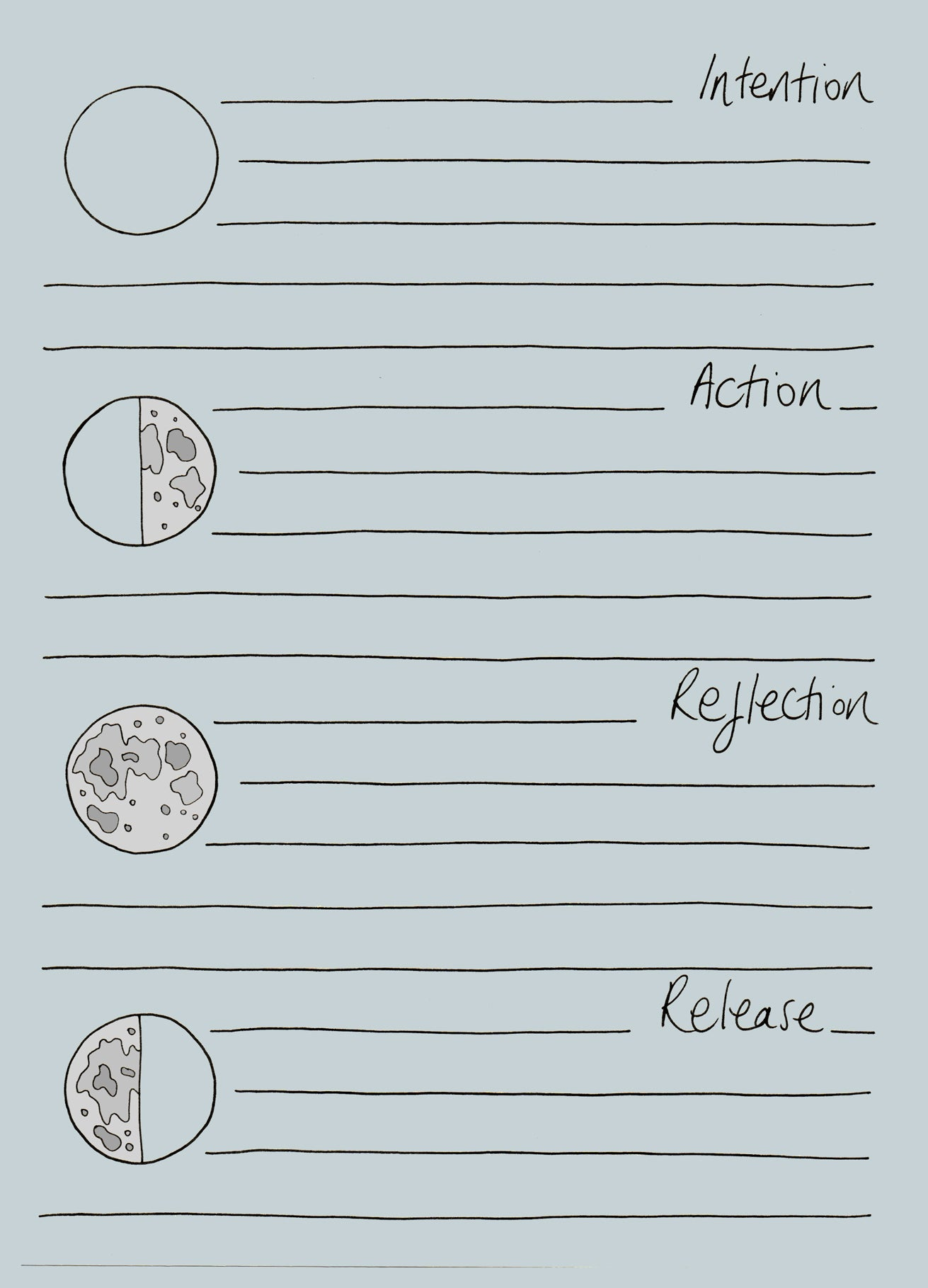Lunar Intentions Notepad