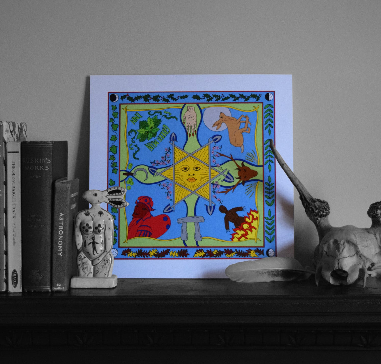 Beltane art print recycled card