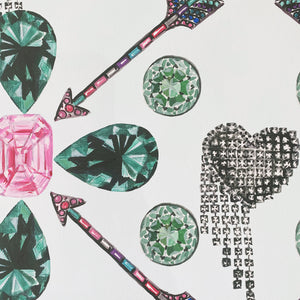 EMERALDS AND ARROWS PRINT