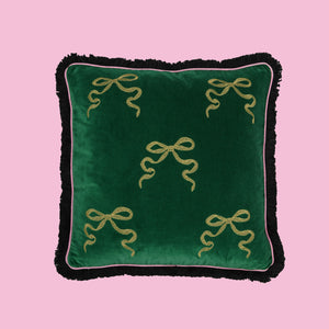 SOLD OUT Green Bow Cushion
