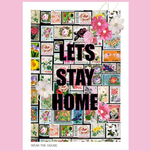 Lets stay home stamp poster