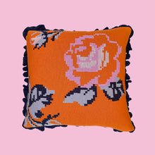 Load image into Gallery viewer, Friendship Knitted Rose Cushion