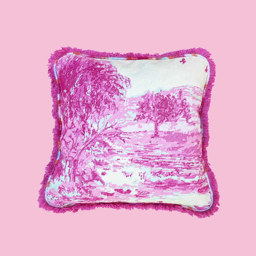 Pink Tapestry Landscape cushion