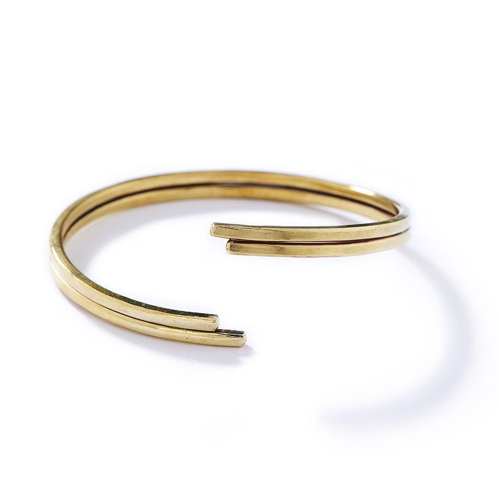 double brass bangle