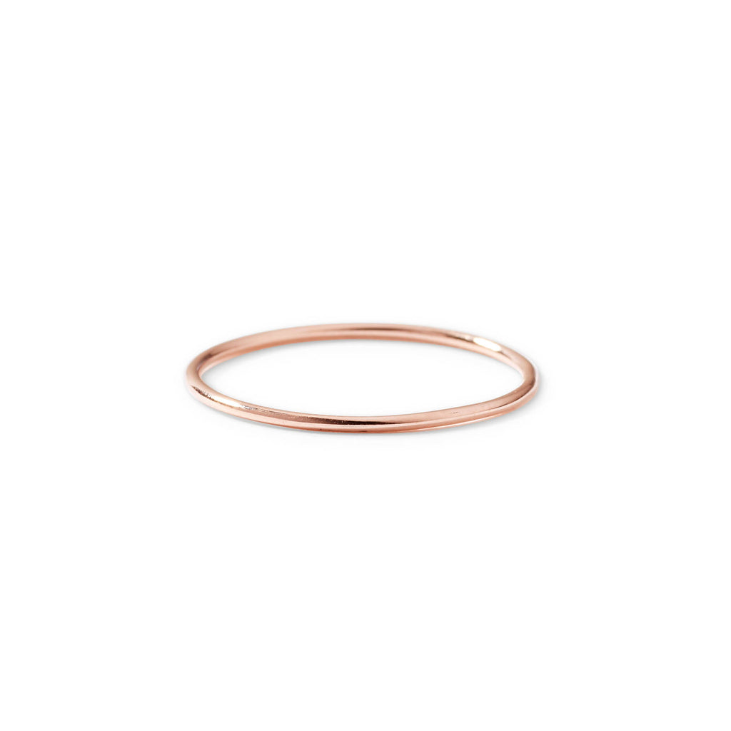 9ct rose gold dainty stack ring