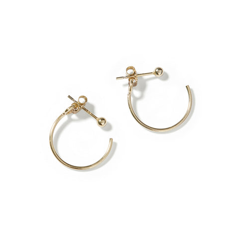 backward hoop earrings