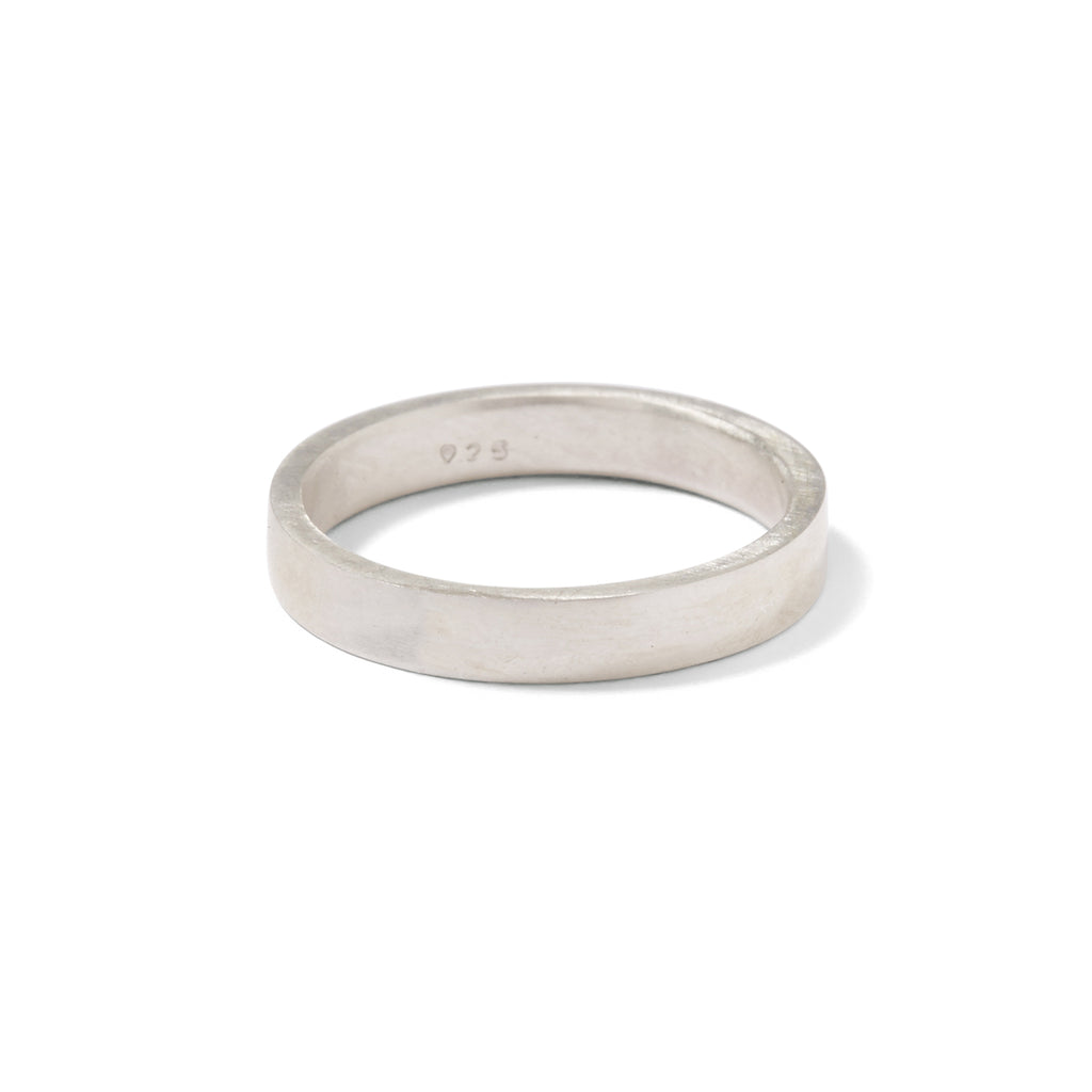 sterling silver skinny gents flat band
