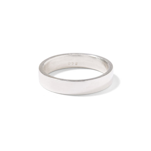 sterling silver gents flat band