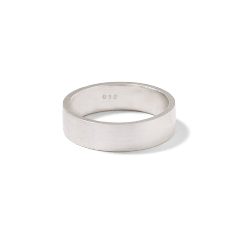 sterling silver wide gents flat band