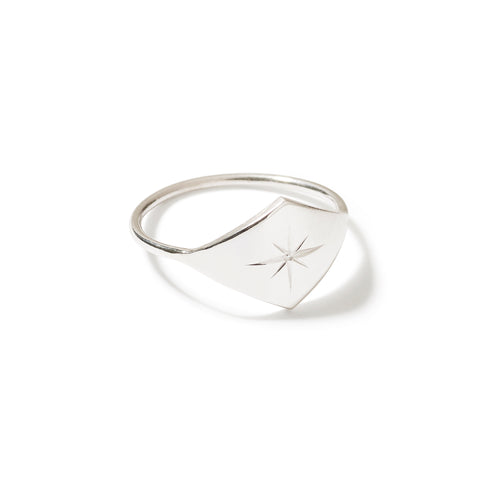 star engraved ring