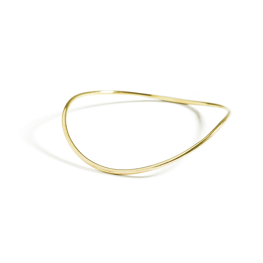 curved brass bangle