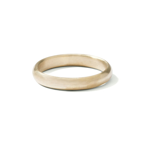 9ct yellow gold gents half round band