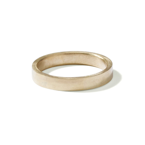 9ct yellow gold skinny gents flat band