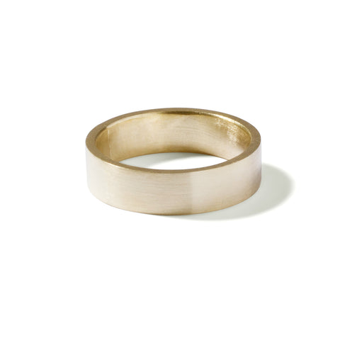 9ct yellow gold wide gents flat band