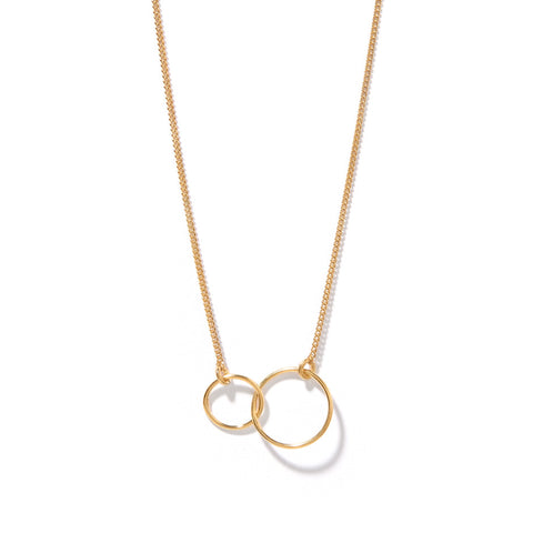 linked circle necklace