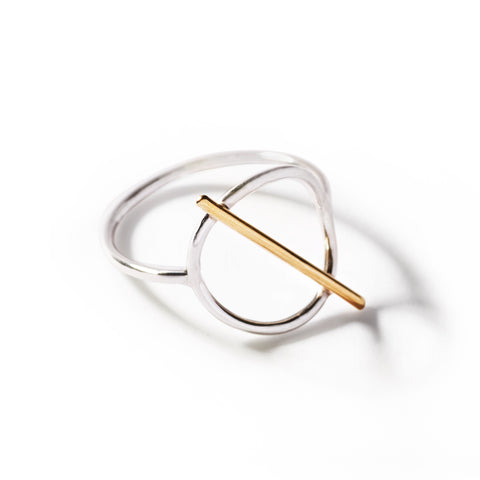 lunar ring two-tone