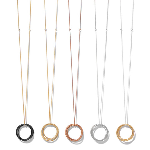 XL three circle necklace