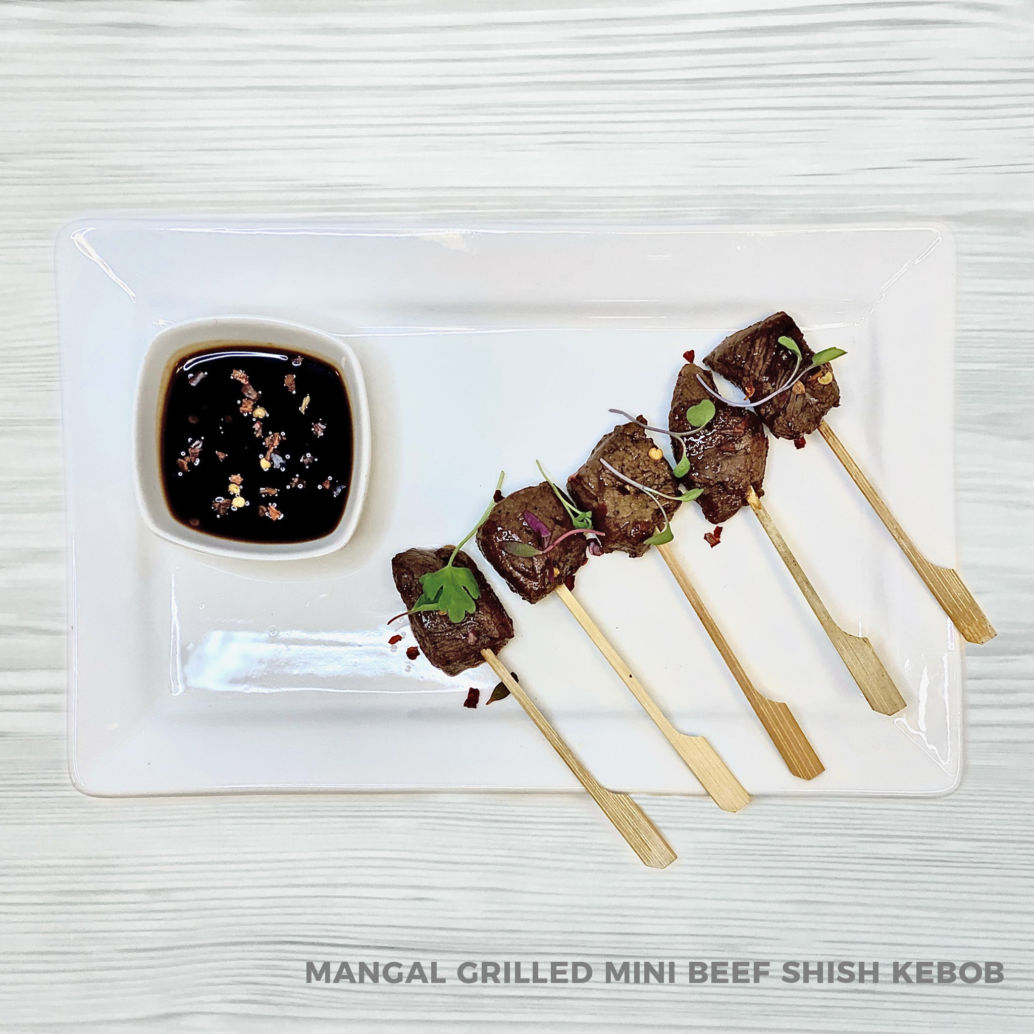 Mangal Grilled Mini Beef Shish Kebob