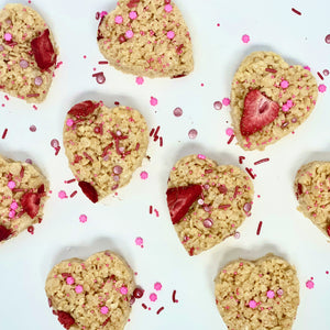 Heart-Shaped Rice Krispy Treats