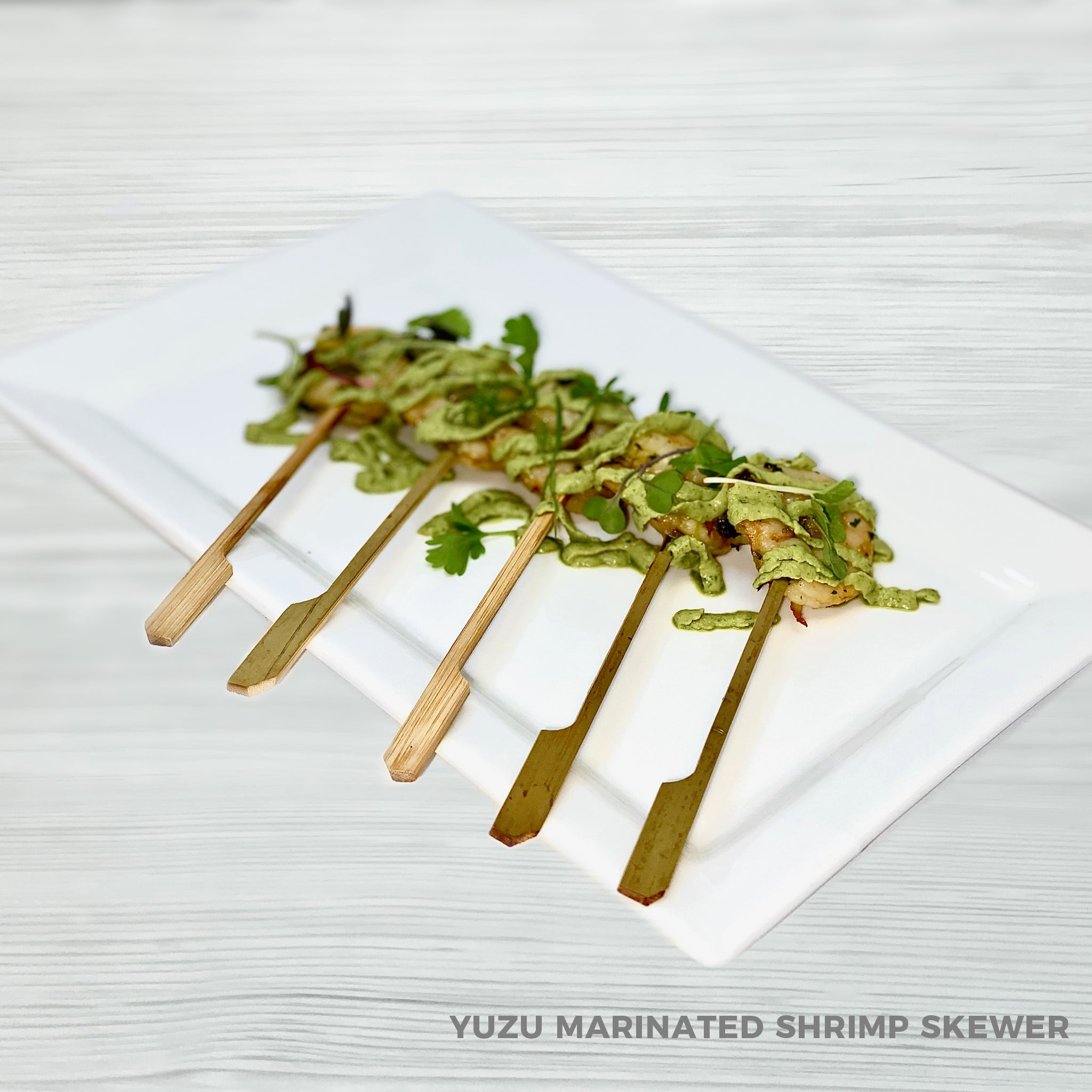 Yuzu Marinated Shrimp Skewers