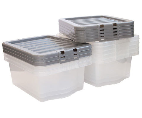 clear plastic stacker boxes