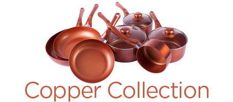 Copper Collection Ceramic Pans