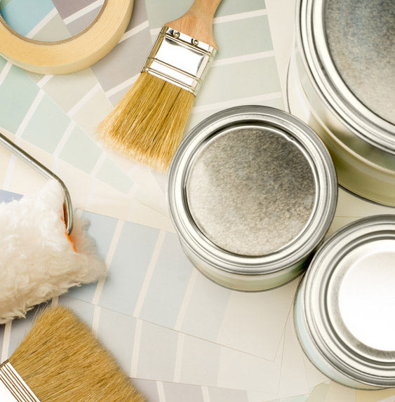 tools for decorating, masking tape brushes rollers
