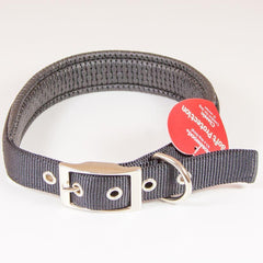 "Padded Dog Collar Soft Protection 22"" Black"