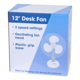 "12"" Dina Housewares Desk Fan"