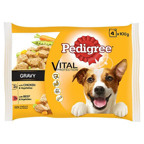 Pedigree 4 Pack Pouches in Gravy