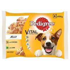 4 Pack Pouch Dog Food in Jelly