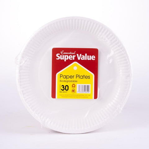 paper plates 30 pack