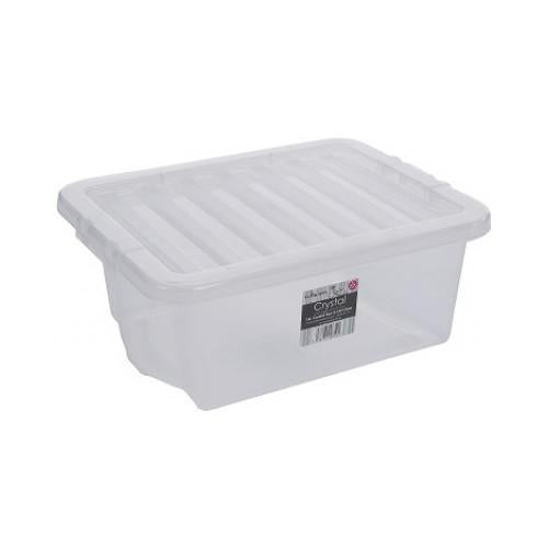 16 Litre Storage Box With Clear Lids