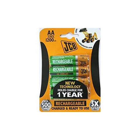 JCB AA Rechargeable Batteries