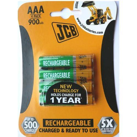 JCB AAA Rechargeable Batteries