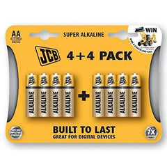 Batteries AA Alkaline 8Pk