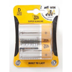 Batteries D Alkaline 2 Pk