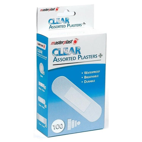 clear assorted plasters 100