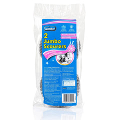 Minky Jumbo Scourers For Powerful Cleaning (2 Pack)