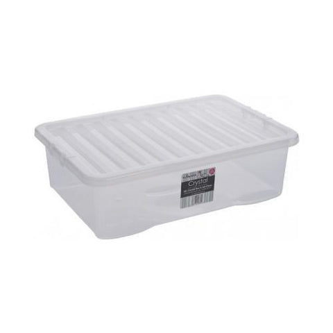 32 Litre Storage Box With Clear Lids