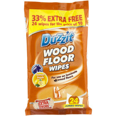 Duzzit Wood Floor Wipes Lemon Fresh 24pk